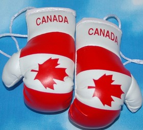 Canada Mini boxing gloves, Mascot for your car,